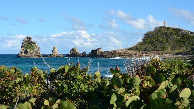 La pointe des Châteaux, sur la Grande-Terre en Guadeloupe.