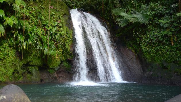 La cascade aux Écrevisses, en Guadeloupe.