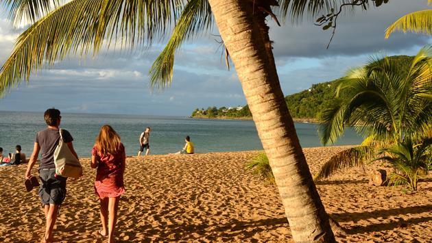 La plage de Grande-Anse à Deshaies.