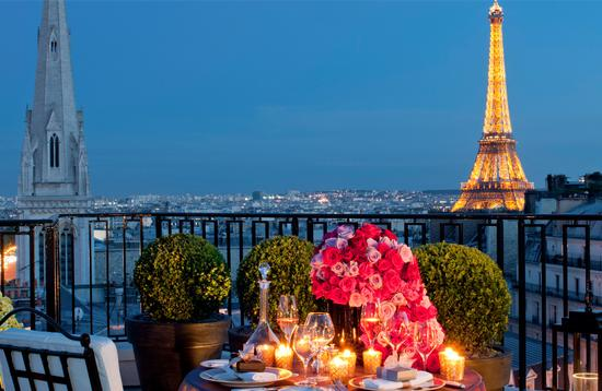 View of Paris from Four Seasons George V