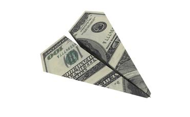 money paper airplane