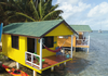 overwater, bungalow, belize, beach