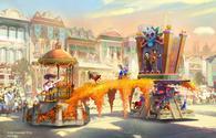 Art for Disneyland Resort's all-new 'Magic Happens' parade