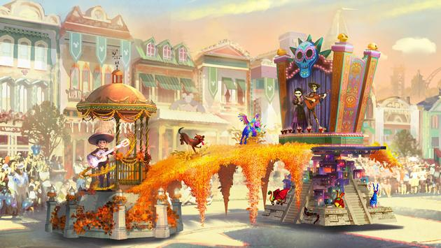 Art for Disneyland Resort's all-new 'Magic Happens' parade