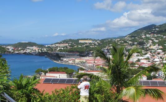 Overlooking St. Thomas, U.S. Virgin Islands.