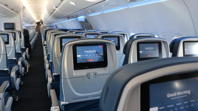 Delta airplane interior (Photo via Delta)