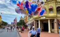 Mickey Balloons on Main Street at Walt Disney World