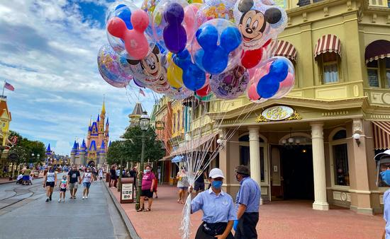 Mickey Balloons on Main Street at Walt Disney World's Magic Kingdom