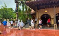Pirates of the Caribbean Distanced Queue at Walt Disney World