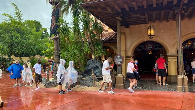 Pirates of the Caribbean Distanced Queue at Walt Disney World's Magic Kingdom