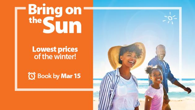 Sunwing Bring On The Sun Sale