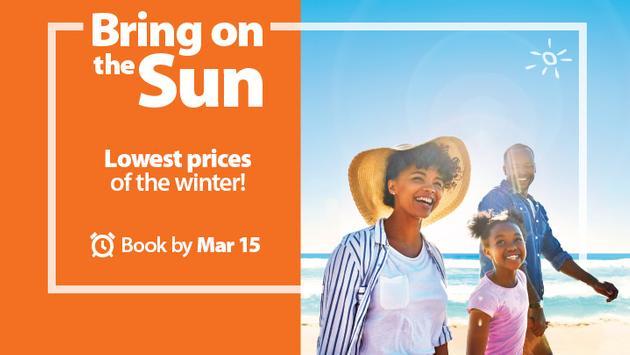 Sunwing Bring On The Sun Sale