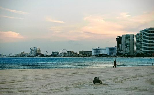 The beach in Cancun, Mexico