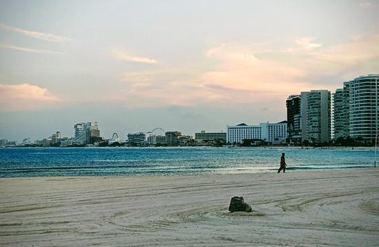 The beach in Cancun, Mexico