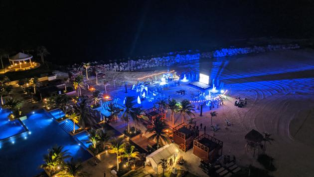 An event dinner on the beach at Hyatt Ziva Cancun