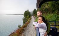Viewing deck alaska railroad