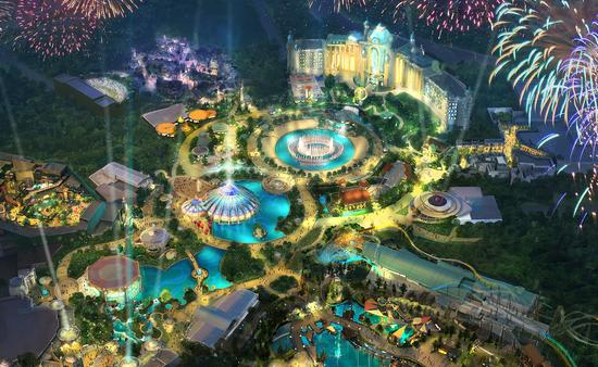 A rendering of Universal's Epic Universe, Universal Orlando Resort
