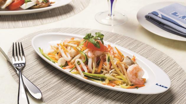 Shrimp salad from Lago by Julian Serrano at Bellagio