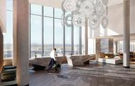 The lobby at the Grand Hyatt San Francisco Airport
