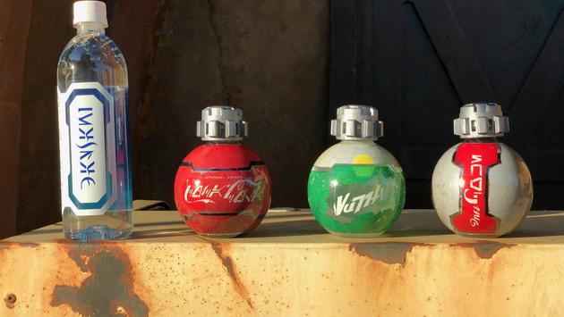 Star Wars–themed soda bottles at Star Wars: Galaxy's Edge.