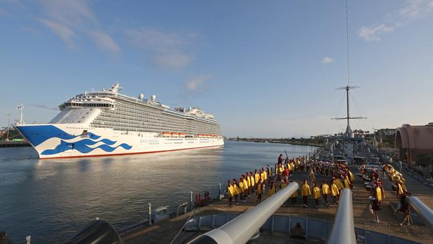 Royal Princess Arrives at Port of Los Angeles