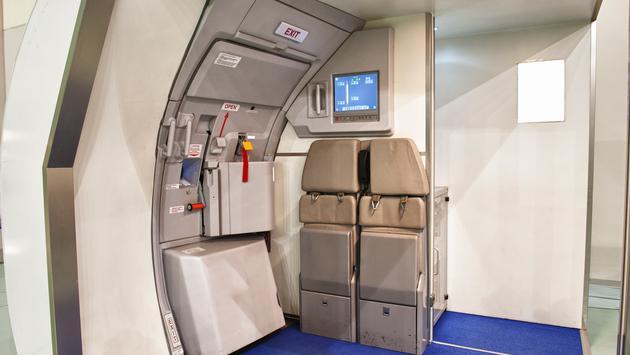 plane, exit, boarding, plane door