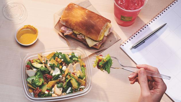 Panera's To-Go Cuban Sandwich and Southwest Lime Chile Salad