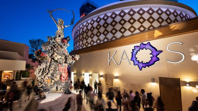 Damien Hirst's 'The Warrior and the Bear' sculpture at KAOS, Palms Casino Resort
