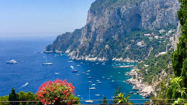 With its spectacular scenery and elegant vibe, it's no wonder Southern Italy's Isle of Capri was once a favorite vacation hideaway of Roman Emperors and European elites. (photo courtesy of Noreen Kompanik)