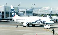 Alaska Airlines plane at Seattle-Tacoma International Airport