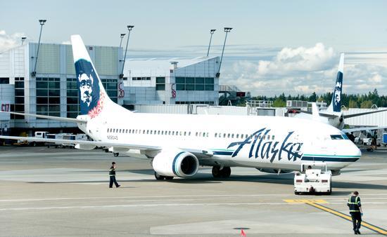 Alaska Airlines plane at Seattle-Tacoma International Airport