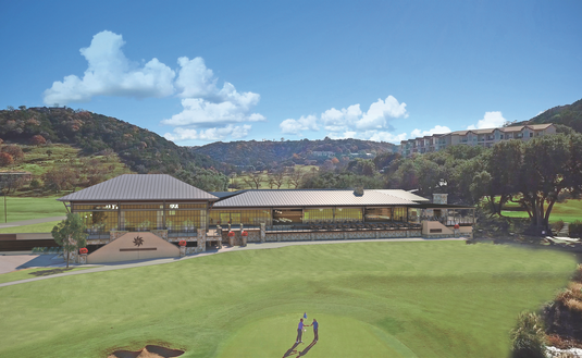 Tapatio Springs Hill Country Resort as seen from the 9th Green