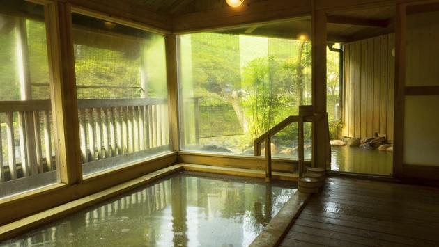 An Onsen Hot Spring Bath on the Japanese island of Kyushu