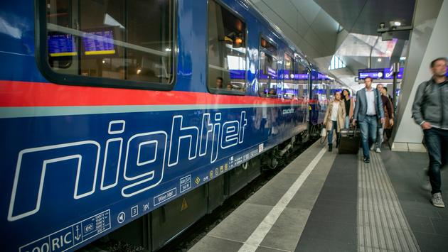 Nightjet train, Austria, sleeper train