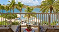 Royal Suite balcony at St James's Club & Villas, Antigua, Elite Island Resorts