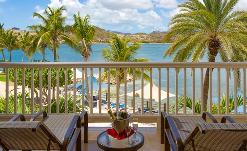 Royal Suite balcony at St James's Club & Villas, Antigua, Elite Island Resorts