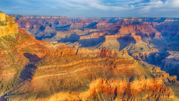 The Grand Canyon shortly after sunrise