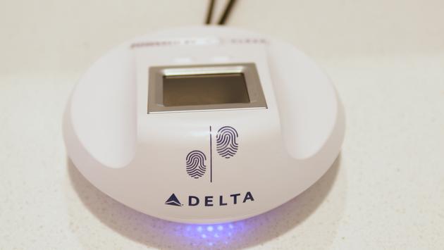 Delta's new biometric scanner