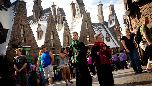 Hogsmeade village in The Wizarding World of Harry Potter at Universal Orlando Resort