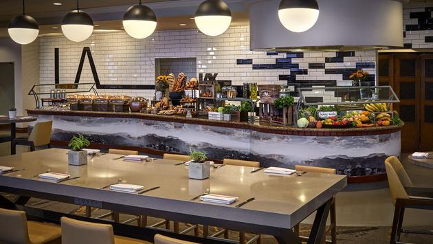 The Marriott LAX Hotel's breakfast buffet