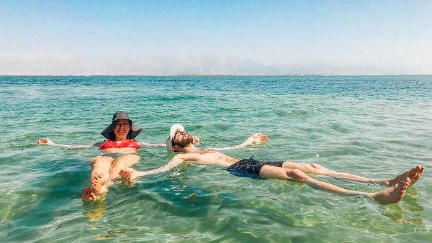 Float around in the Dead Sea.