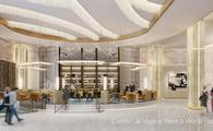Rendering of the Conrad Las Vegas lobby, part of an upcoming Resorts World complex.