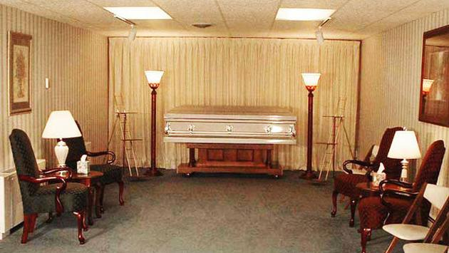 Casket in a Funeral Home