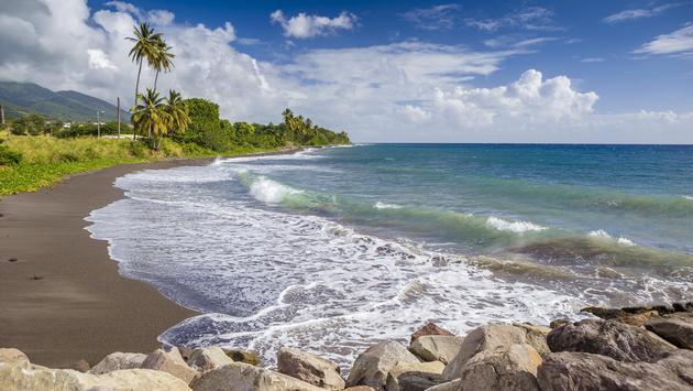 Beach on a St. Kitts island