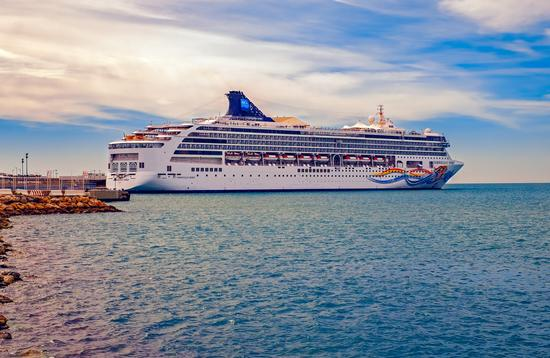 Norwegian Spirit docked in Malaga, Spain