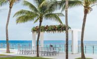 Wedding ceremony set up at Hotel Riu Cancun