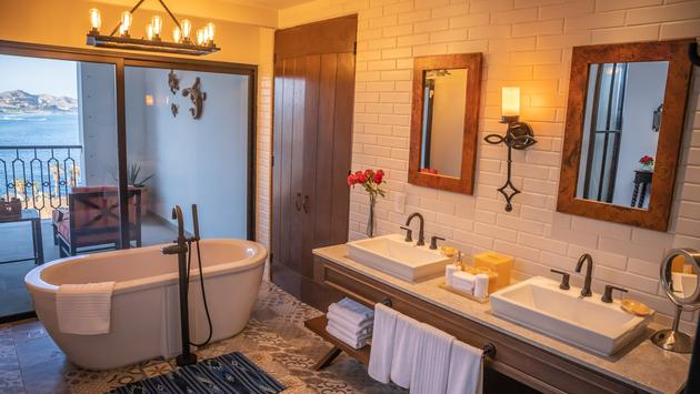 Bath area at Vista Encantada Spa Resort & Residences in Los Cabos.