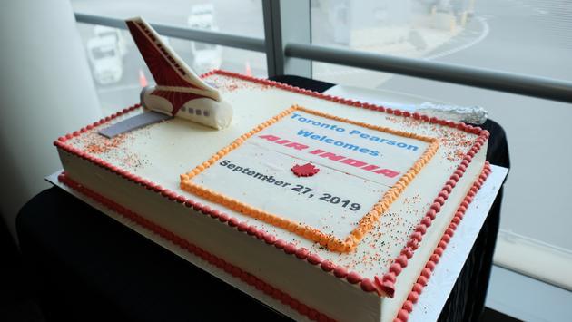 Air India Toronto Pearson Cake
