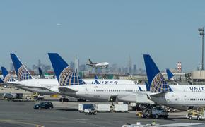 United Airlines planes parked at gates at Newark Liberty International Airport's Terminal C