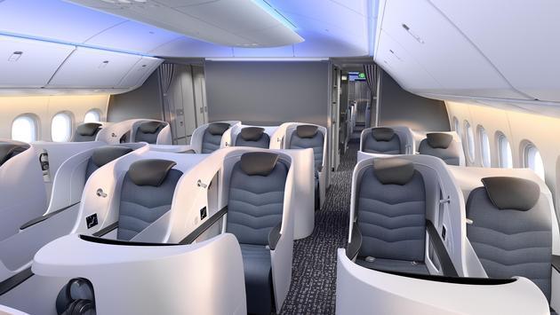 Boeing 777X cabin mock-up